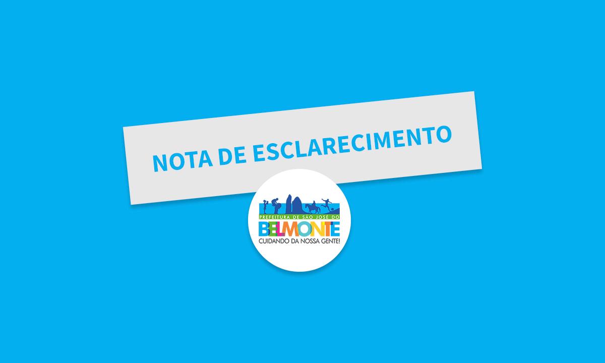 Operação Solaris: Prefeitura de São José do Belmonte emite nota