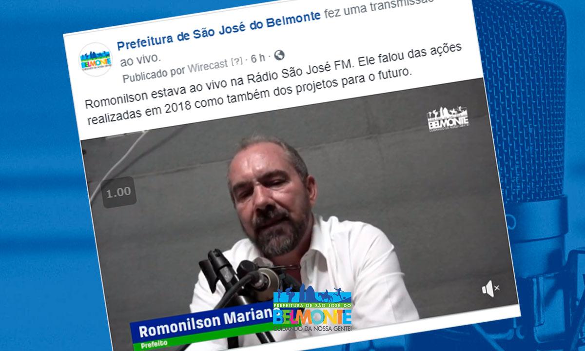 Romonilson anuncia implantação de creches em São José do Belmonte