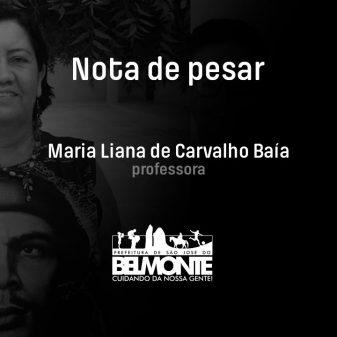 Nota de pesar pelo falecimento da professora Liana Baia