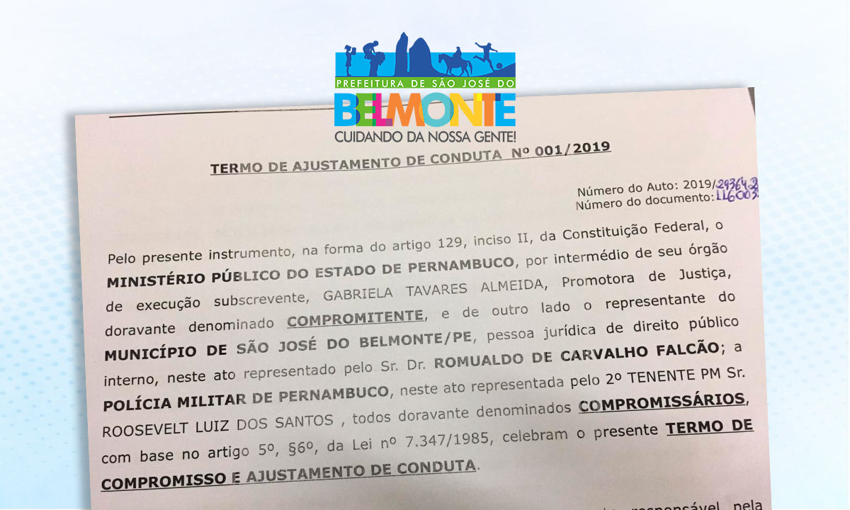 Prefeitura assina Termo de Ajustamento de Conduta para festividades da Vila Delmiro