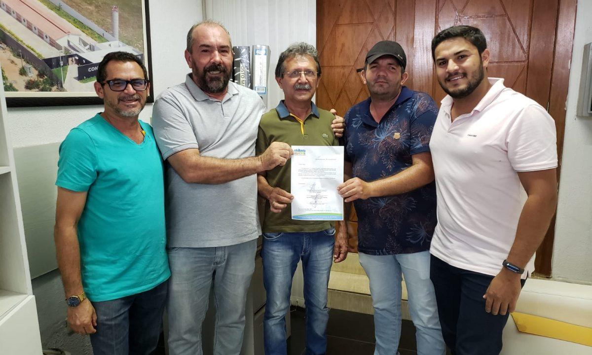 """Assinada a ordem de serviço da construção do estádio """"Marianão"""" no Distrito do Carmo."""