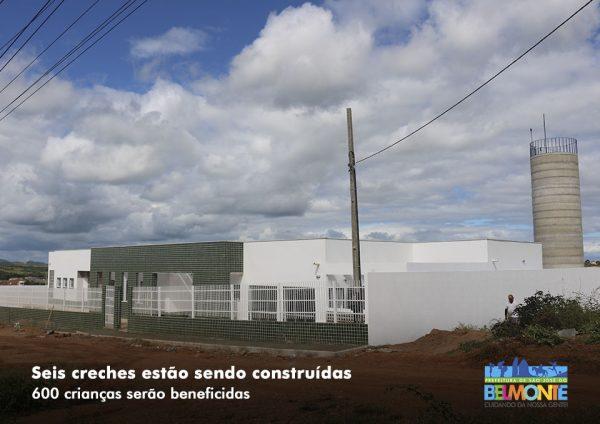 Prefeitura de São José do Belmonte está construindo 6 creches que irão beneficiar mais de 600 crianças; as obras estão 90% concluídas