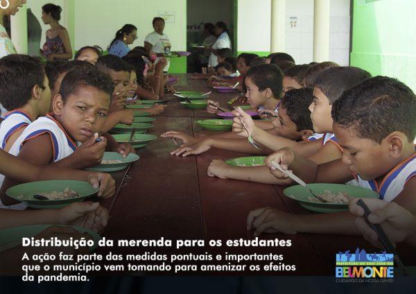 Prefeitura vai distribuir merenda escolar para estudantes da rede municipal em São José do Belmonte