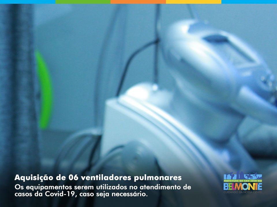 São José do Belmonte abre licitação para aquisição de ventiladores pulmonares