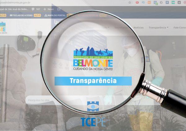 São José do Belmonte está entre os municípios mais bem avaliados no panorama de transparência da Covid-19 no Estado