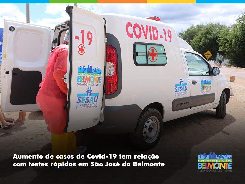 Aumento de casos de Covid-19 tem relação com testes rápidos em São José do Belmonte