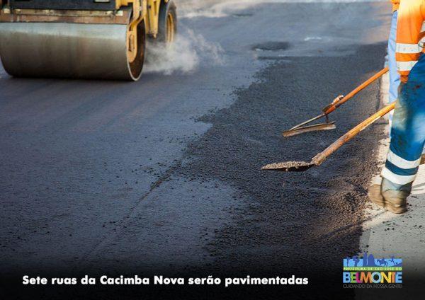 Sete ruas da Cacimba Nova serão pavimentadas
